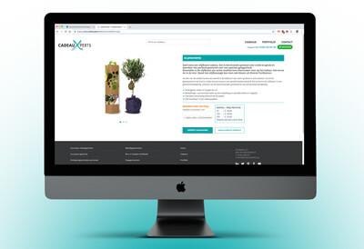 website met relatiegeschenken zoals een boompje
