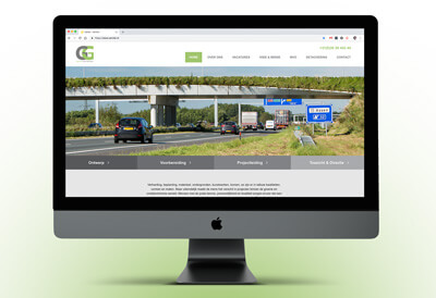 website met een snelweg in combinatie met planten