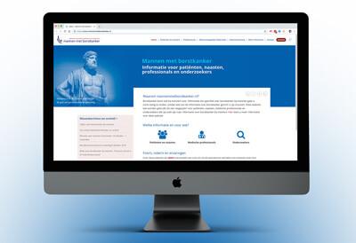 voorlichtings website over mannen met borstkanker