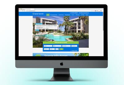 website met aanbod van huizen in Spanje